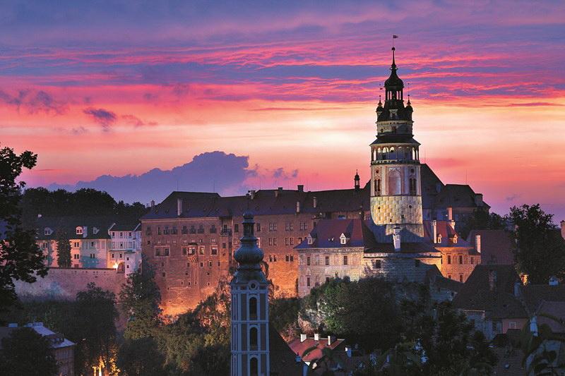 Staatliche Burg und das Schloss Český Krumlov