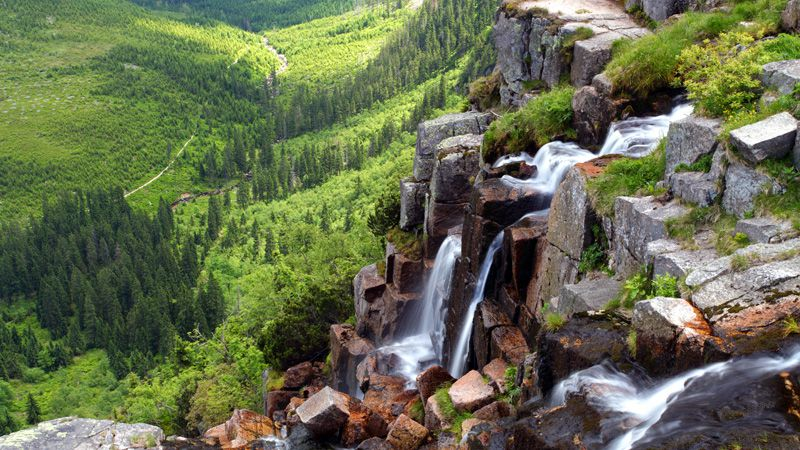 Krkonoše - Pančava Waterfall