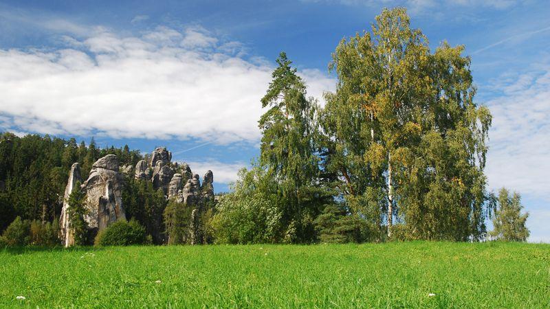 Les rochers d'Adršpach et de Teplice