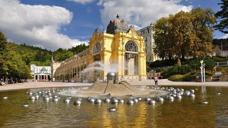 Марианске Лазне - поющий фонтан