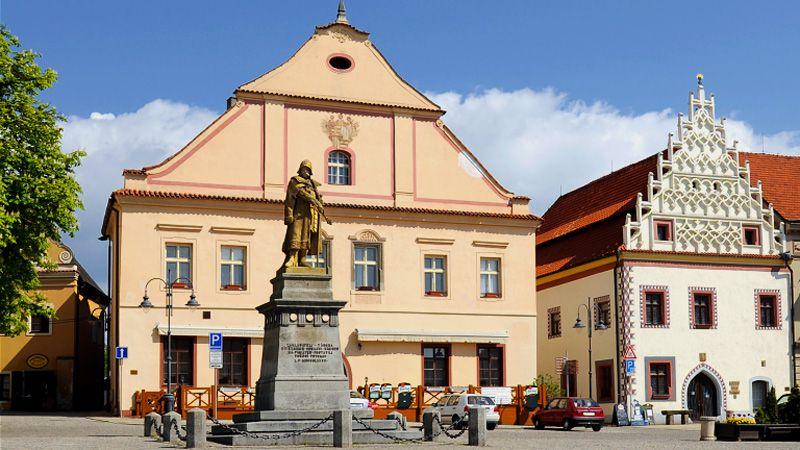 Tábor - statue of John Žižka of Trocnov