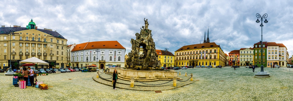 Baroque Parnas Fountain in Brno
