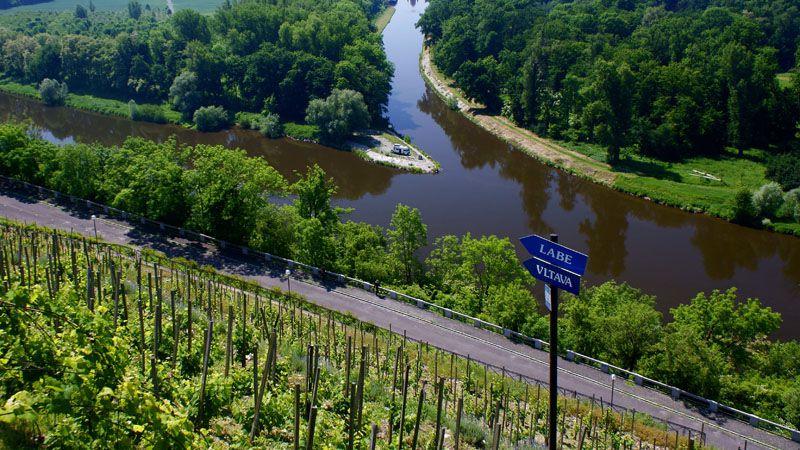 Mělník - confluence of the Elbe and the Vltava