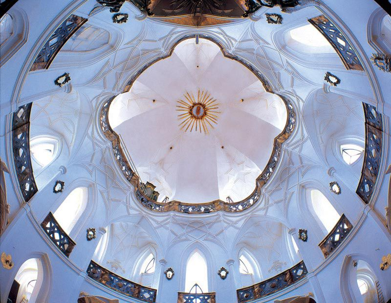 Church of St. John of Nepomuk at Zelená hora - church dome