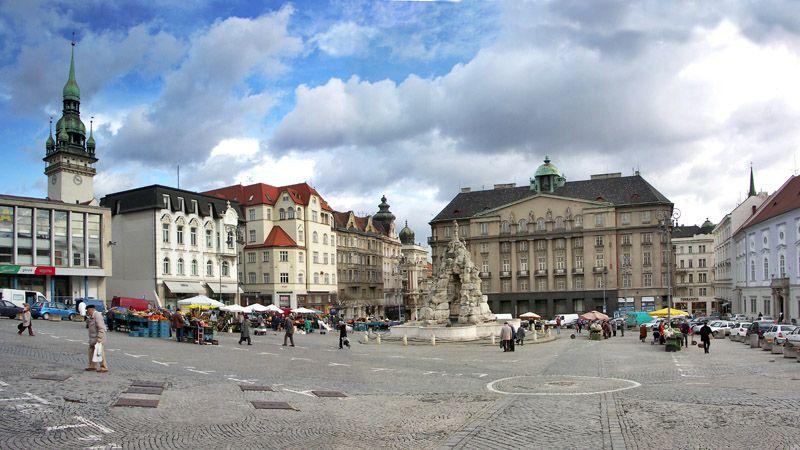 Brno - La plaza Zelný trh