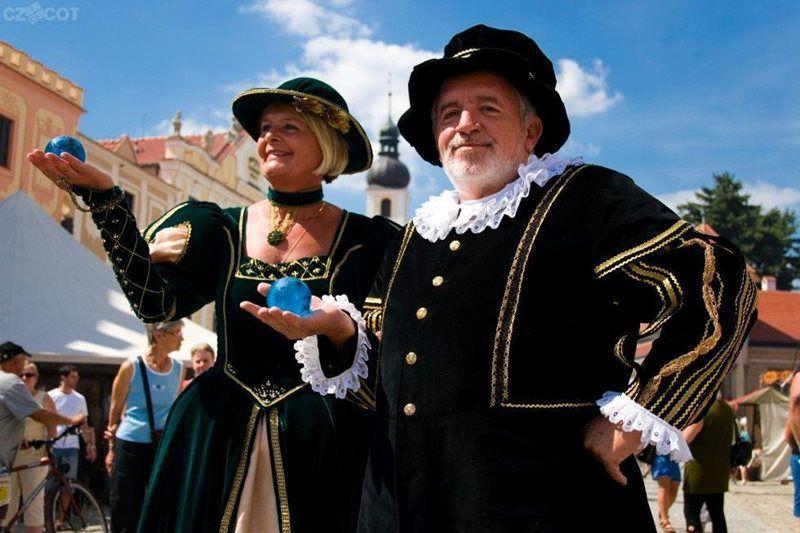 Исторические торжества Захариаша из Градце и Катержины из Вальдштейна в городе Телч.