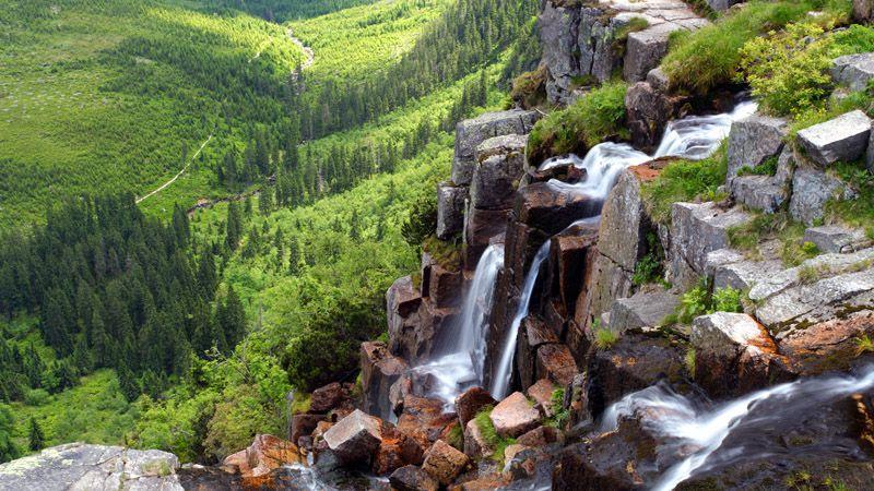 Les Monts des Géants - la cascade Pančavský vodopád