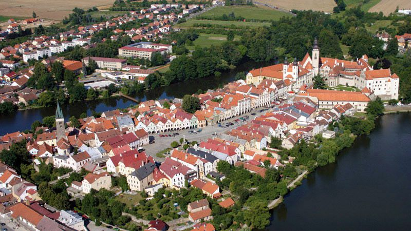 Telč - aerial view