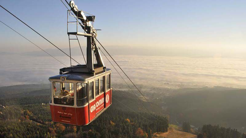 Ještěd - cable car
