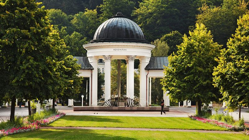 Марианске Лазне - колоннада источника Рудольфа
