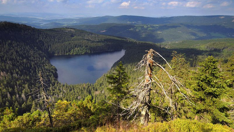 Le lac Černé jezero