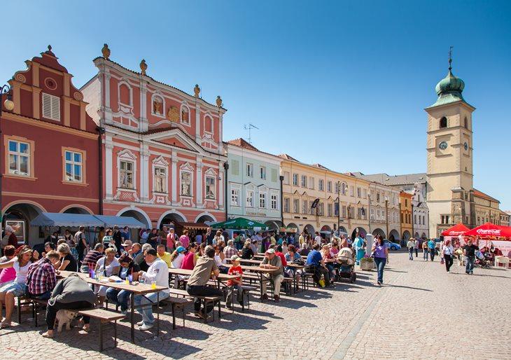 The square Smetanovo náměstí in Litomyšl