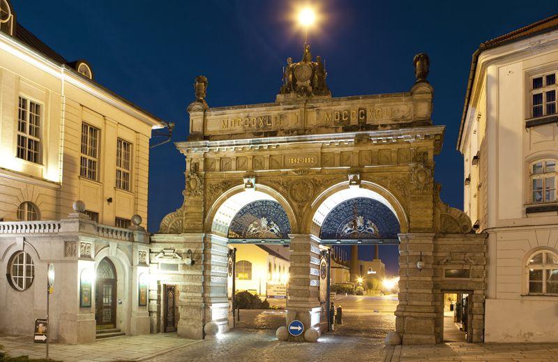 Plzeň - gates of the Plzeň Brewery