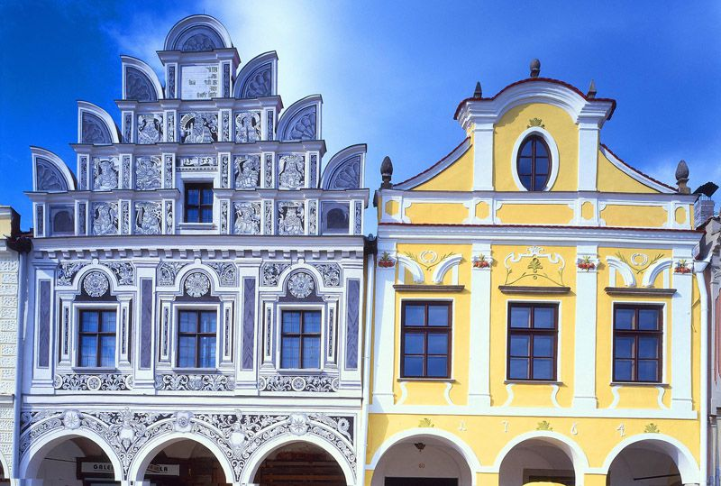 Telč - piazza