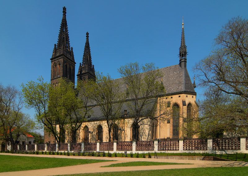 Vyšehrad - la cathédrale Saints-Pierre-et-Paul
