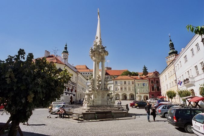 Mikulov, historic market square