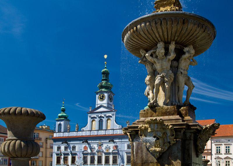 České Budějovice - la fontaine Samson